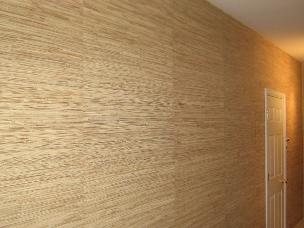 Painting over grasscloth wallpaper -  Grasscloth